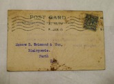 Image of Postcard from A Webb & Co, Waste Merchants to D Grimond, dated 5th Jan 1915 DUNIH 2017.1.26