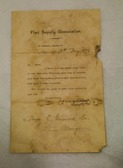 Image of Letter from Flax Supply Association to D Grimond, dated 18th May 1898 DUNIH 2017.1.27.1