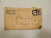 Image of Envelope from Flax Supply Association sent to D Grimond, dated 18th May 1898 DUNIH 2017.1.27.2