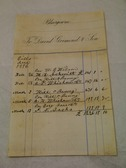 Image of Accounts relating to D Grimond, dated 26th Feb - 13th March 1896 DUNIH 2017.1.28.2