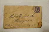 Image of Envelope addressed to Messrs D Grimond and Sons, dated 10th March 1897 DUNIH 2017.1.29.3