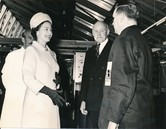 Image of Photograph of the Queen meeting Cliff McKendrick, May 1969 DUNIH 2017.16.2.14