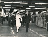 Image of Photograph of the Queen walking through the Winding Department, May 1969 DUNIH 2017.16.2.15