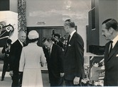 Image of Photograph of the Queen at the exhibition of products, May 1969 DUNIH 2017.16.2.26