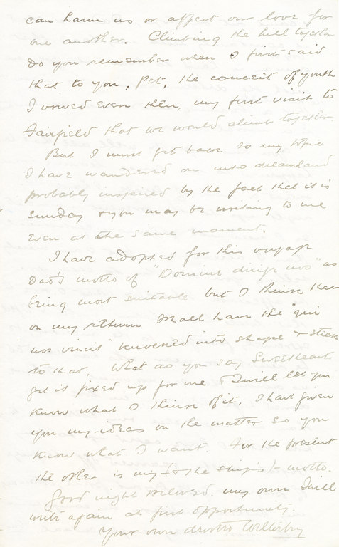 Letter from William Colbeck to Edith Robinson DUNIH 1.002