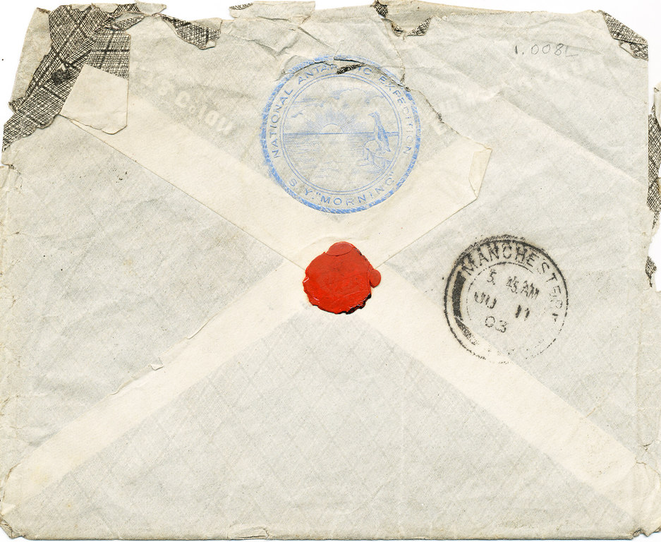 Envelope containing William Colbeck letters DUNIH 1.008