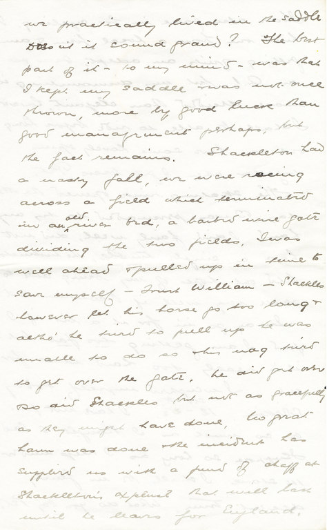 Letter from William Colbeck to Edith Robinson DUNIH 1.009