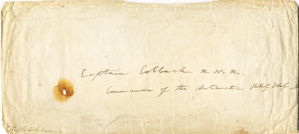 Envelope from Lyttelton Harbour to William Colbeck DUNIH 1.025