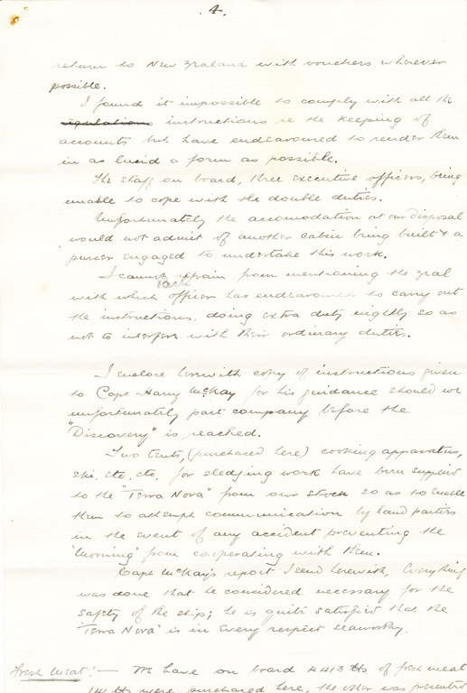 Copy of report on the Morning's progress DUNIH 1.037
