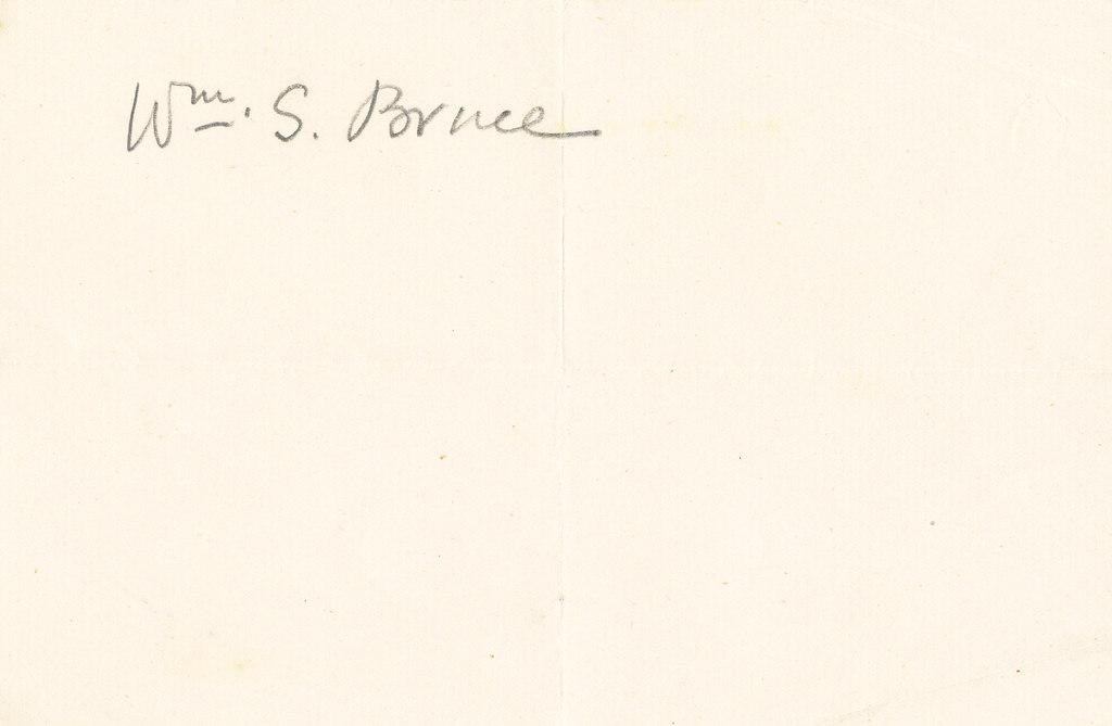 William Spiers Bruce autograph DUNIH 1.039