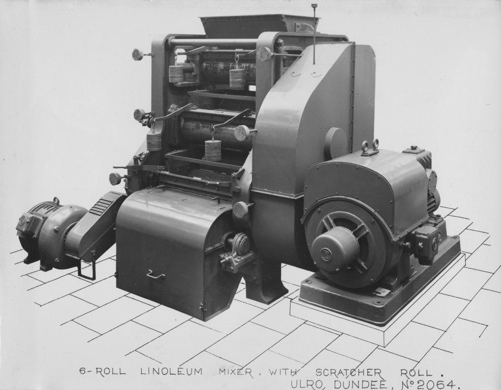 ULRO- 6-Roll Linoleum mixer with scratcher roll DUNIH 393.21
