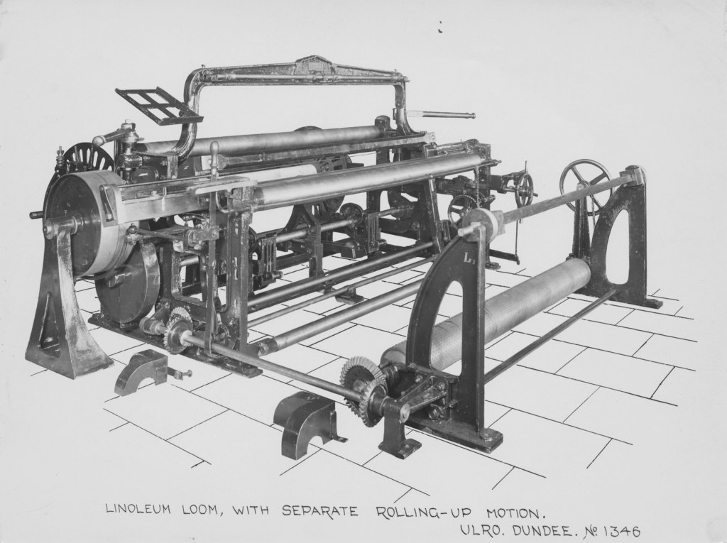 ULRO - Linoleum Loom with seperate rolling-up motion DUNIH 394.108