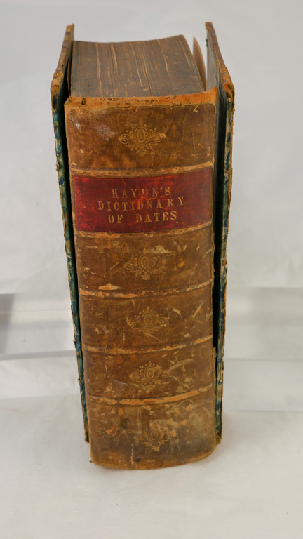 'Haydn's Dictionary of Dates' - Book part of Discovery 1901-1904 library DUNIH 2018.24.16