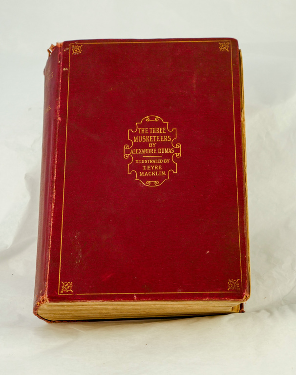 'The Three Musketeers'- Book part of Discovery 1901-1904 library DUNIH 2018.24.20