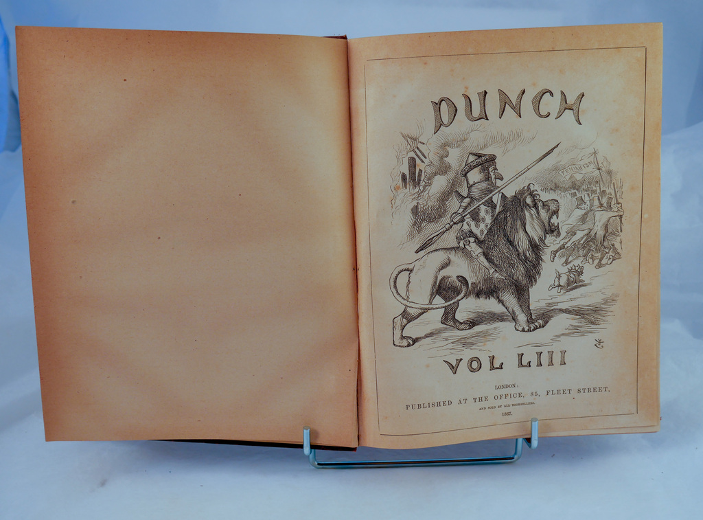 Punch magazine Vol 53 - Book part of Discovery 1901-1904 library DUNIH 2018.24.24.1
