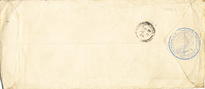Image of Envelope containing letters sent by William Colbeck DUNIH 1.004