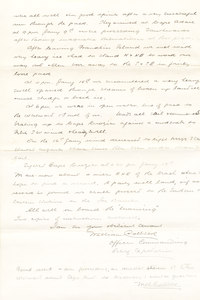 Image of Letter from William Colbeck to Sir Clements Markham DUNIH 1.016