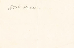 Image of William Spiers Bruce autograph DUNIH 1.039
