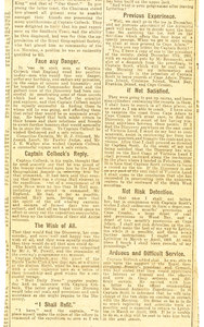 Image of Newspaper clipping re. dinner held in Colbeck's honour DUNIH 1.049