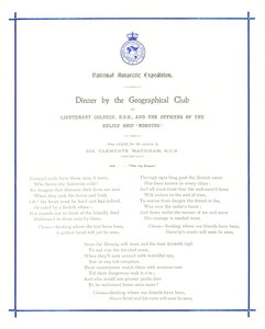 Image of Programme  from dinner held for the crew of the Morning DUNIH 1.064