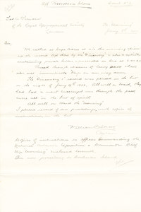 Image of Letter to Royal Geographical Society Possession Islands DUNIH 1.080