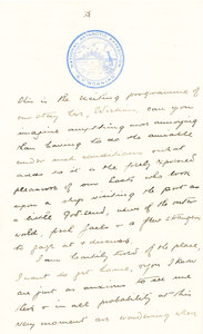 Image of Letter re. the Morning's stop in Port Stanley DUNIH 1.082