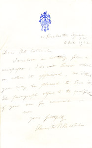 Image of Letter from Markham re. newspaper cutting DUNIH 1.089