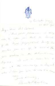 Image of Letter to Colbeck re. award for Antarctic services DUNIH 1.094