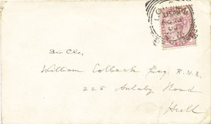 Image of Envelope containing letter to Colbeck DUNIH 1.095
