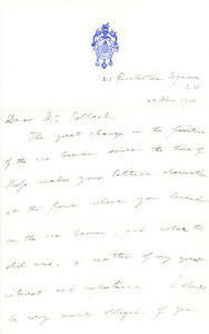 Image of Letter to Colbeck re. ice corner DUNIH 1.096