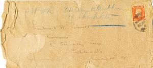 Image of Envelope: 'Paper: Sir Clements Markham re Shackleton' DUNIH 1.098