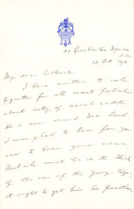 Image of Letter to Colbeck re Amundsen's dirty trick DUNIH 1.105