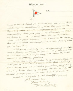 Image of Letter to Albert Armitage re. Southern Cross expedition DUNIH 1.125