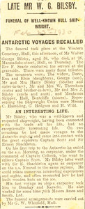 Image of Newspaper cutting, re. funeral of Mr Bilsby (shipwright) DUNIH 1.279