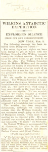 Image of Article re. brief disappearance of William Soresby DUNIH 1.313
