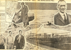 Image of Article re. Wilkins's Expedition to the Arctic by submarine DUNIH 1.330