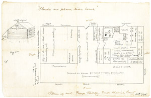 Image of Plan of the huts, Camp Ridley DUNIH 1.498