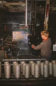 Image of Jute Twine being coated DUNIH 2006.1.20.7