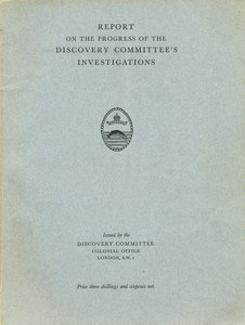 Image of Progress of the Discovery Committee's Investigations DUNIH 2008.56