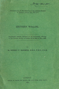 Image of 'Southern Whaling' Presidential Address DUNIH 2008.57