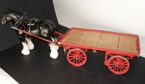 Image of Horse and Cart model DUNIH 2010.40.1