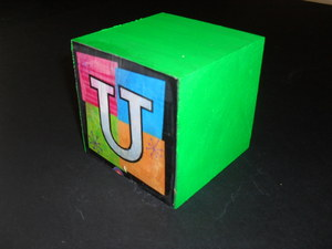 Image of Cube embellished with the latter 'U' DUNIH 2011.1.80.2