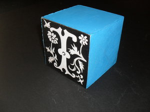 Image of Cube embellished with the letter 'I' DUNIH 2011.1.80.9