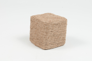 Image of Cube decorated with coiled jute twine DUNIH 2011.1.9