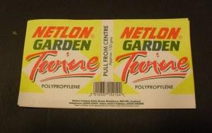 Image of Labels, Netlon garden twine DUNIH 232.8