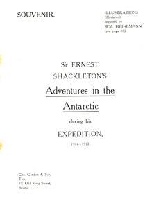 Image of Sir Ernest Shackleton's 1914-1917 Expedition. DUNIH 354.13