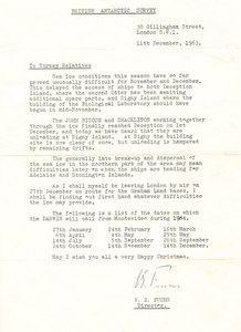 Image of Document sent to the British Antarctic Survey relatives DUNIH 354.14