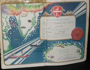 Image of Crossing the Antarctic Circle Certificate DUNIH 354.7