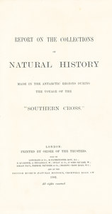 Image of Report on Natural History on the Southern Cross DUNIH 435