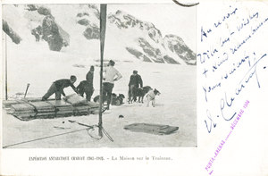 Image of Postcard from J. Charcot of French Antarctic Expedition K 12.4